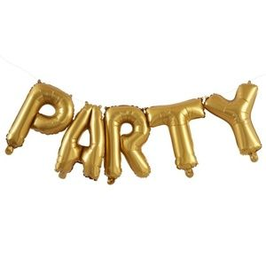 Party Gold Foil Balloons, 5 Pieces, 16 Inches 🌸